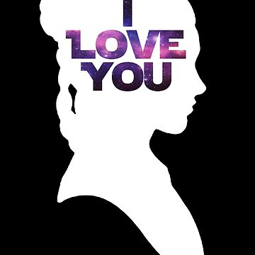 Star Wars Leia 'I Love You' White Silhouette Couple Tee by fabulouslypoor