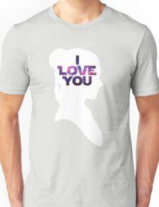 Star Wars Leia 'I Love You' White Silhouette Couple Tee Unisex T-Shirt