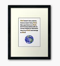 God and Science Framed Print