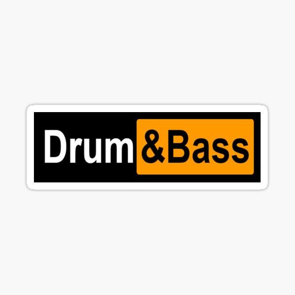Drum and Bass Parody Logo Sticker
