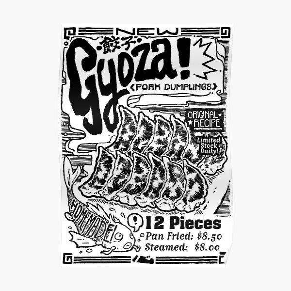 Kokoro Ramen Gyoza Poster Poster