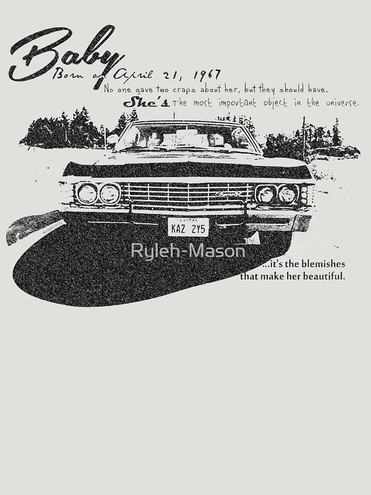 Baby Supernatural 67 Impala by Ryleh-Mason