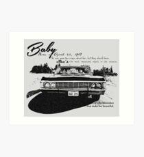 Baby Supernatural 67 Impala Art Print