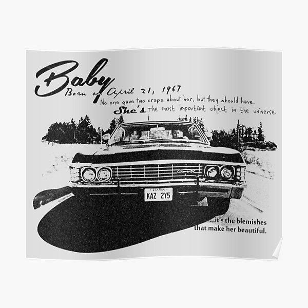 Bébé Supernatural 67 Impala Poster