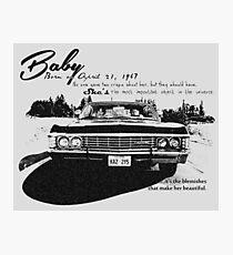 Baby Supernatural 67 Impala Photographic Print