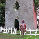 Jester in front of castle by jollykangaroo