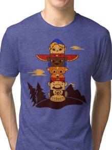 64bit Totem Pole Tri-blend T-Shirt
