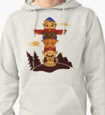 64bit Totem Pole Pullover Hoodie