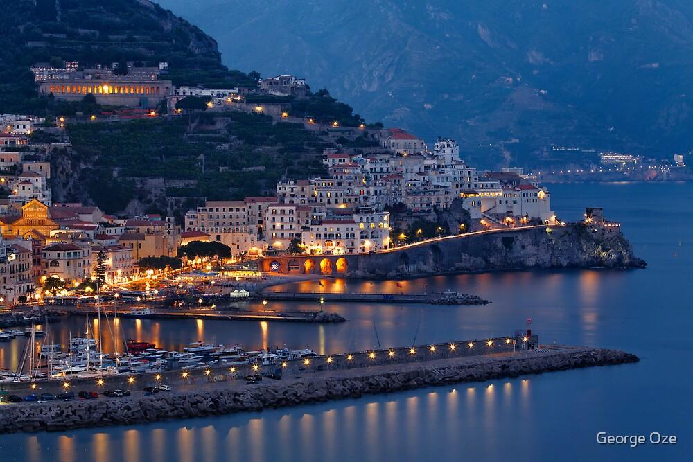 Amalfi Night Vista by George Oze