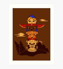 64bit Totem Pole Art Print