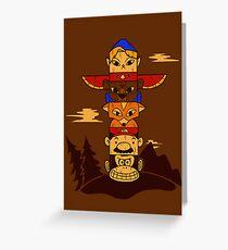 64bit Totem Pole Greeting Card