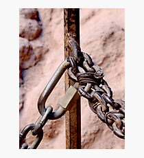Chained Photographic Print