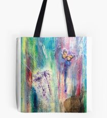Taraxacum Glow Layered Beeswax Art Tote Bag