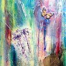 Taraxacum Glow Layered Beeswax Art by JulieWaxArtist
