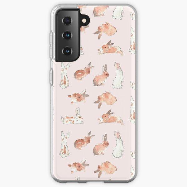 Bunny Rabbit Watercolor Stickers Samsung Galaxy Soft Case