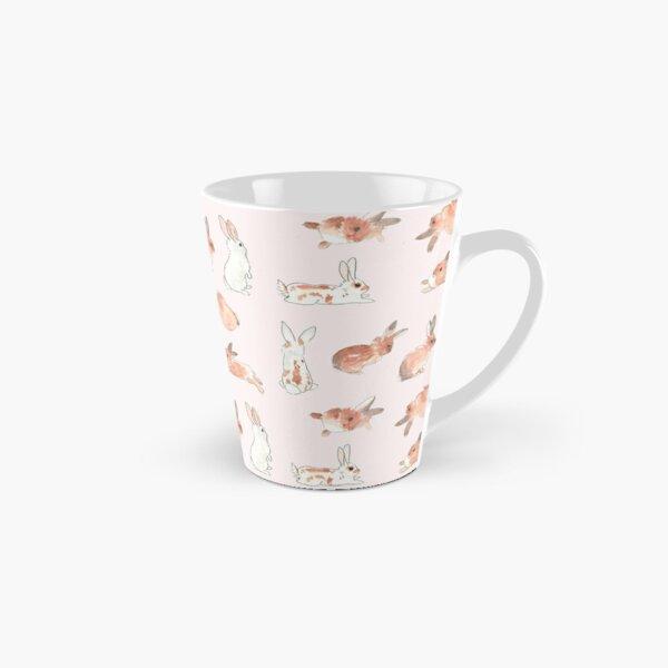 Bunny Rabbit Watercolor Stickers Tall Mug