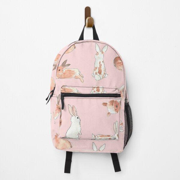 Bunny Rabbit Watercolor Stickers Backpack