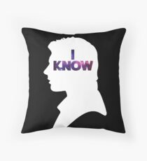 Star Wars Han 'I Know' White Silhouette Couple Tee  Throw Pillow