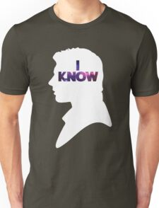 Star Wars Han 'I Know' White Silhouette Couple Tee  Unisex T-Shirt
