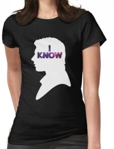 Star Wars Han 'I Know' White Silhouette Couple Tee  Womens Fitted T-Shirt