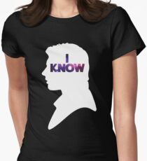Star Wars Han 'I Know' White Silhouette Couple Tee  Women's Fitted T-Shirt
