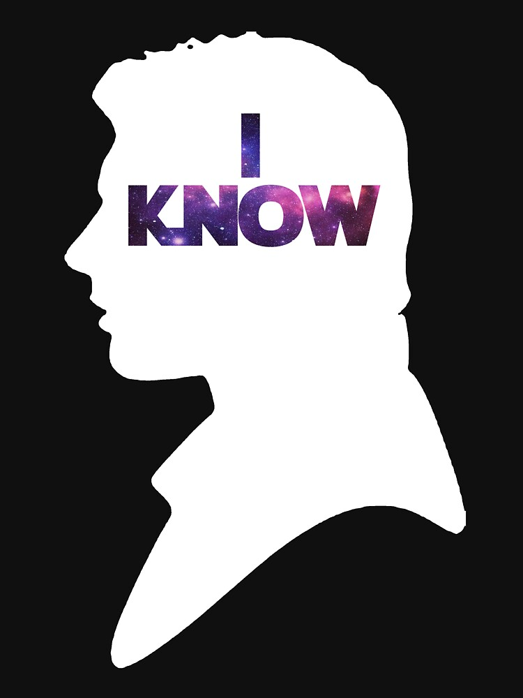 TShirtGifter presents: Star Wars Han 'I Know' White Silhouette Couple Tee  | Unisex T-Shirt