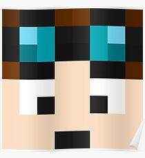 TheDiamondMinecart Minecraft skin Poster