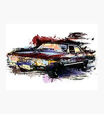 Baby Supernatural 67 Impala Watercolor Photographic Print