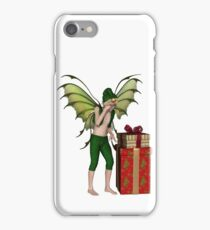 Christmas Fairy Elf Boy with Pile of Presents iPhone Case/Skin