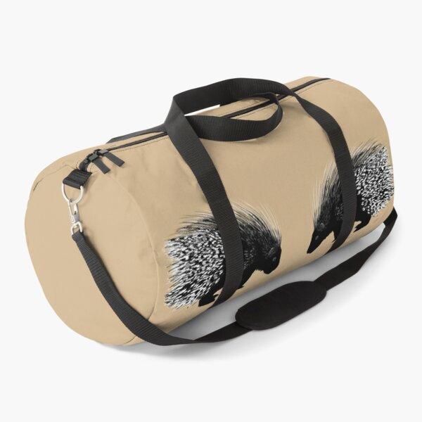Porcupine Twins - Tan Duffle Bag