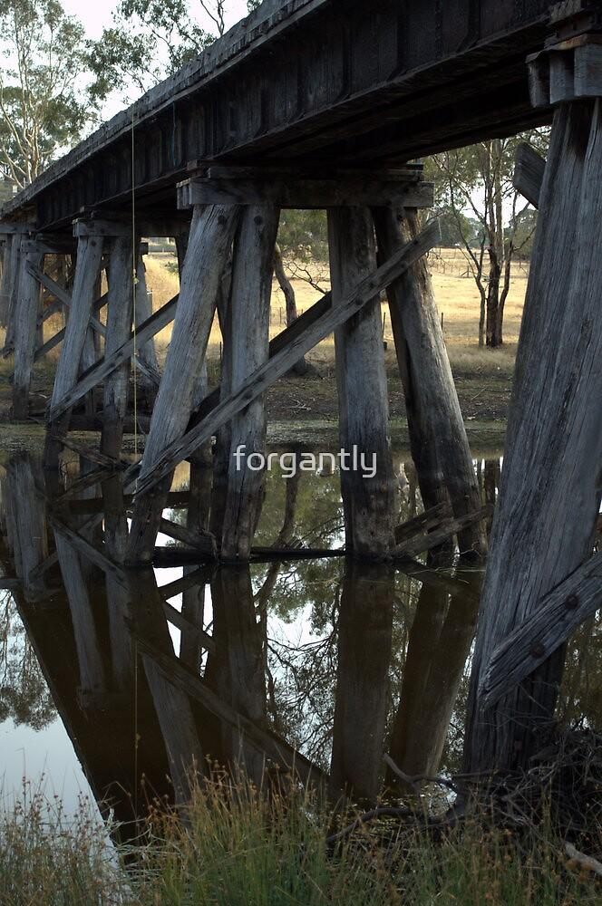 Old Rail Bridge Cavendish Victoria  by forgantly