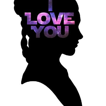 Star Wars Leia 'I Love You' Black Silhouette Couple Tee by fabulouslypoor