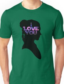 Star Wars Leia 'I Love You' Black Silhouette Couple Tee Unisex T-Shirt