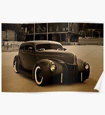 1940 Ford Sedan Hot Rod Poster