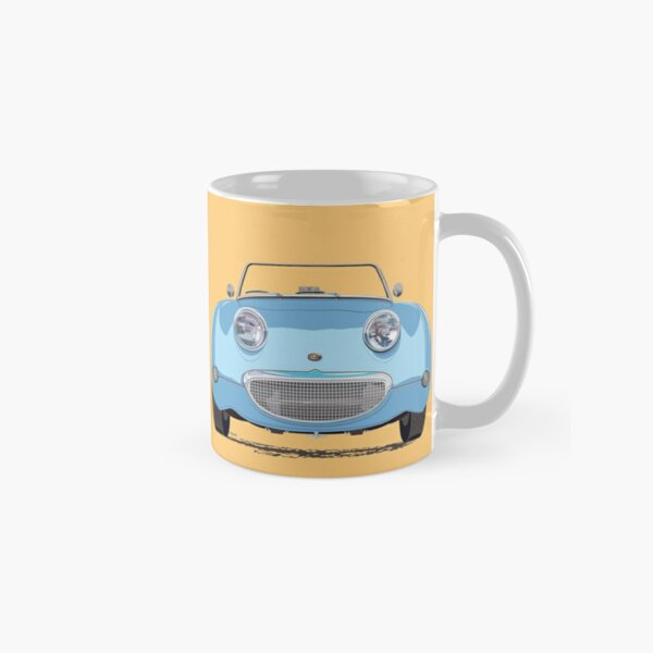 Iris Blue Frogeye/Bugeye Sprite, the little Austin Healey – with a big smile! Classic Mug
