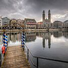 Limmat River Reflections by Yhun Suarez