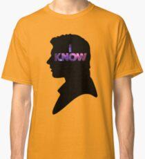 Star Wars Han 'I Know' Black Silhouette Couple Tee Classic T-Shirt