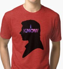 Star Wars Han 'I Know' Black Silhouette Couple Tee Tri-blend T-Shirt