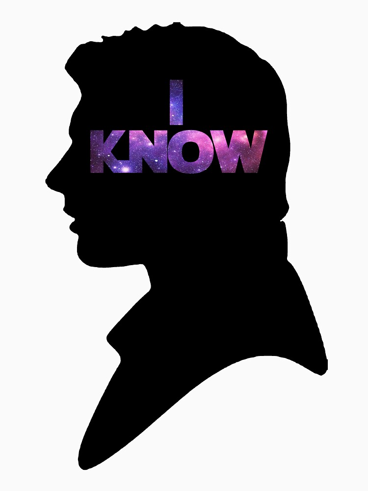 Star Wars Han 'I Know' Black Silhouette Couple Tee | Unisex T-Shirt