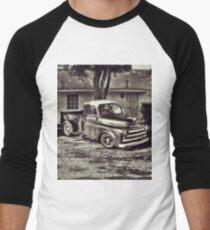 Old Timey Truck Zoomer Men's Baseball ¾ T-Shirt
