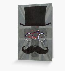 Bicycle Head Greeting Card