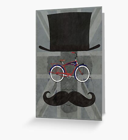 Bicycle Head Greeting Card
