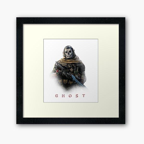 Warzone Ghost Impression encadrée