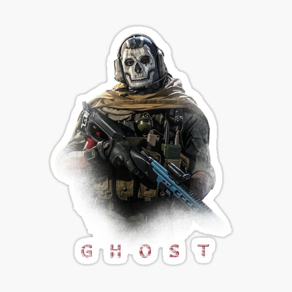 Warzone Ghost Sticker