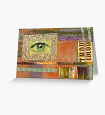 eye framed Greeting Card