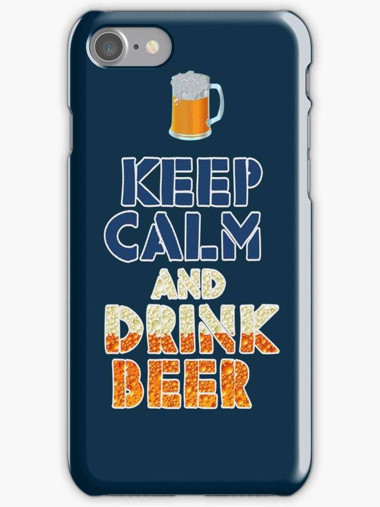 Keep Cam And Drink Beer iPad Case / iPhone 5 Case / iPhone 4 Case by CroDesign