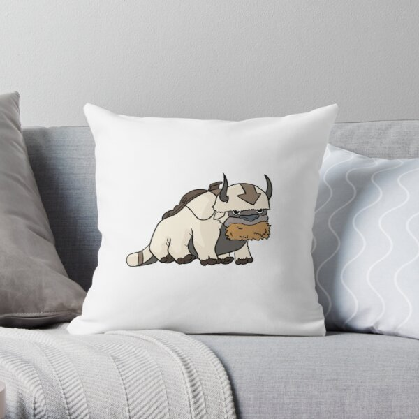 Appa eating hay, Avatar the last Airbender  Throw Pillow