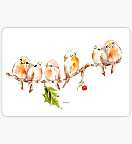 Six Little Birds Sticker