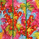 Abstract Triptych  by JuliaFineArt