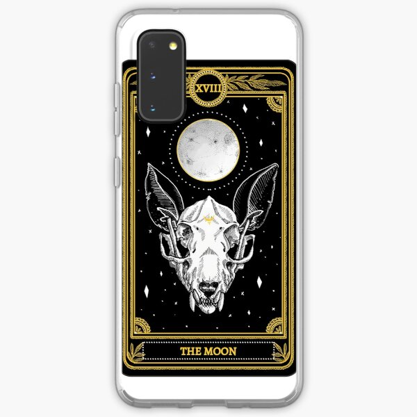 "Black and Gold ""The Moon"" Tarot Card  Samsung Galaxy Soft Case"